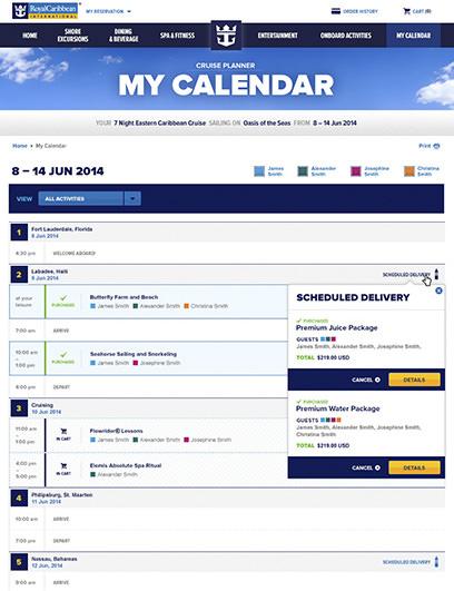 royal caribbean cruise planner